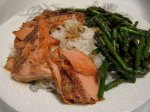 Finished Salmon and Asparagus