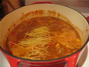 chili with pasta